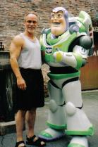 Dad with Buzz Lightyear during our last family WDW vacation, April 2003