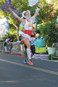 leaping to the finish