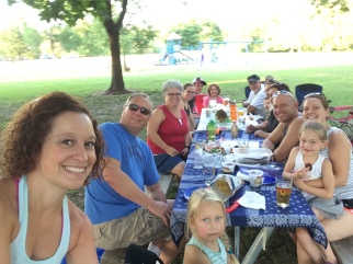 Root River Beer Garden with all my Wisconsin Family!